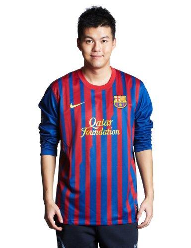 Jersey Nike FC Barcelona 2011-2012 Home Long Sleeve [Size XL]