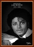 ポスター アーティスト不明 マイケルジャクソン 1958-2009 額装品 ウッドハイグレードフレーム(ナチュラル)