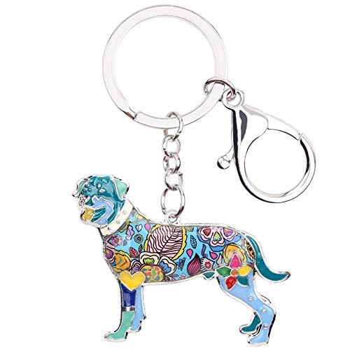 LZHLMCL - Llavero, diseño de perro esmaltado, llavero, anillos, regalo para mujeres, niñas, enamoradas de los animales de compañía, bolsa de coche a la moda