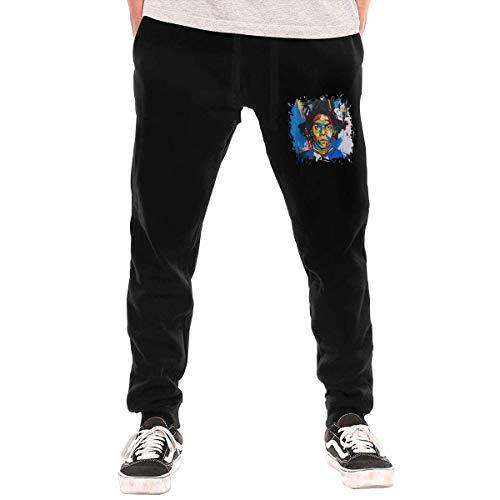 Shichangwei Jean Michel Basquiat - Pantalones largos para hombre con bolsillos