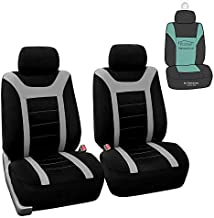 FH Group Sports Fabric Car Seat Covers Pair Set (Airbag Compatible),- Fit Most Car, Truck, SUV, or Van