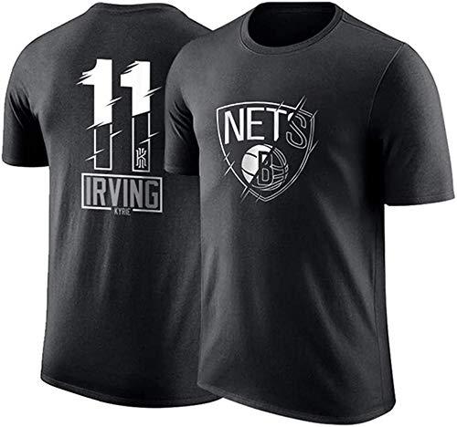 YZY Camiseta De La NBA para Hombre NBA Nets # 11 Kyrie Irving Camiseta De Baloncesto Camiseta Deportiva De Manga Corta para Entrenamiento Deportivo,L(175~180CM/75~85KG)