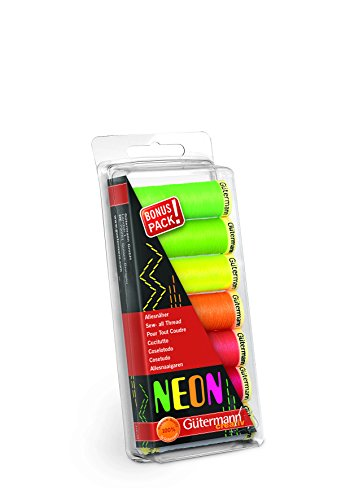 Gutermann GUT_731148 Fadenset: Alles nähen: 100m: Neon: 7 Walzen, zutreffend, Nicht zutreffend