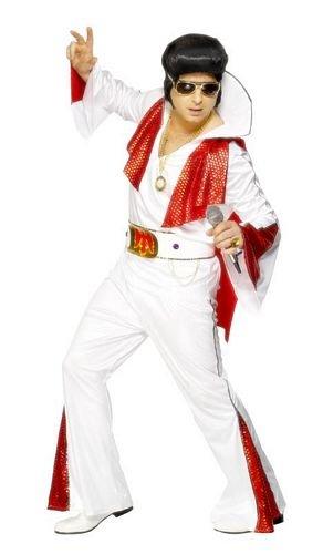 Smiffy's - Disfraz de Elvis para hombre, talla M (29151M)