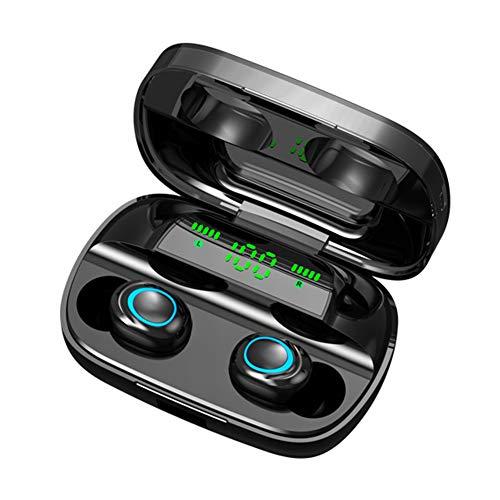 Spachy Auriculares Inalámbricos Bluetooth 5.0, TWS, Auriculares de diadema con funda de carga, Bulit en Micrófono Impermeable Deportivos para iOS Android