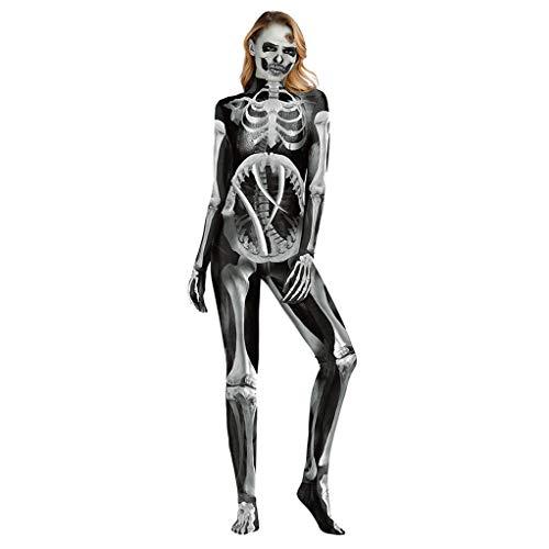 CHUN BO Womens dames Halloween Skeleton schedel bot rood bloed hart meisjes Bodycon kostuum nieuwigheid partij jurk