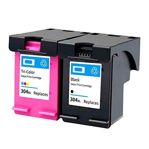 Cartucho De Tinta 304XL,reemplazo De Alto Rendimiento Para HP DeskJet 3720 3730 2620 2621 2630 2632 Amp 100 120 125 Envy 5020 5030 Impresora De Inyección De Tinta Ne 1 black 1 Tri-Color