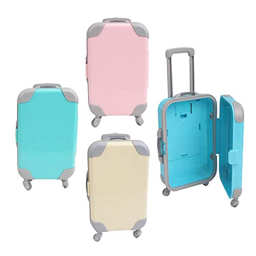 SM SunniMix 4x Fashion Suitcase Luggage for 18 'dolls Pretend Toy Gift Accs