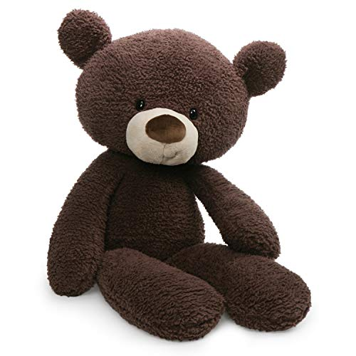 GUND Fuzzy Teddy Bear Stuffed Animal Plush, Chocolate Brown, 24