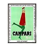 Mmpcpdd Kunstdruck auf Leinwand, Motiv: Campari, Retro,