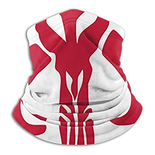 Mandalorian Skull Unisex Multifuncional a prueba de polvo Mascarillas para el cuello polaina calentador de cuello, bufanda pasamontañas para deportes al aire libre 25.4 x 28.6 cm