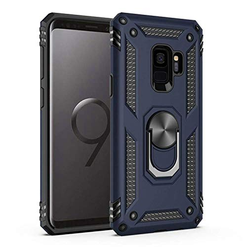 Amuoc Compatible with Samsung Galaxy S9 Plus Case,[ Military Grade ] 15ft. Drop Tested Protective Case [ Kickstand] -Royal Blue