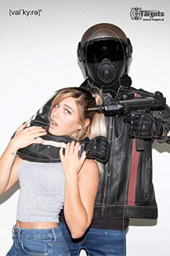 Große Zielscheiben Hostage Target Danielle Valkyrie / 53 x 80 cm/Papier 120g/m² (20 Stück)