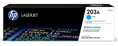 HP 203A (CF541A) Original Toner (für HP LaserJet Pro M254, HP LaserJet Pro M280, HP LaserJet Pro M281) blau