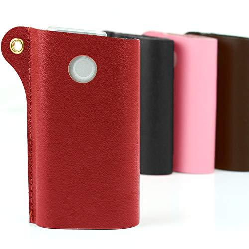 glo グロー ケース 本革 カバー レザー シンプルデザイン 加熱式タバコ ソフト スリーブケース ZP-37GD (レッド)