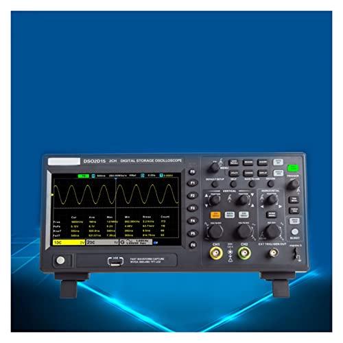 MINGMIN-DZ Osciloscopio DSO2C10 2C15 2D10 2D15 2CH + 1CH con Fuente de señal (Size : 2D15)