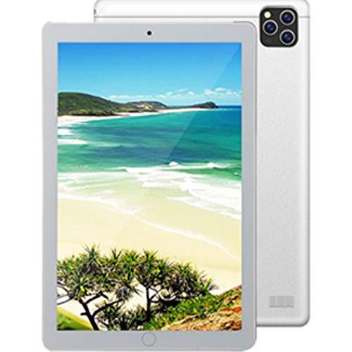 Dsqcai Tablet PC Android Tablet PC Tarjeta Dual SIM Tres cámaras Tablet PC 4GB + 64GB WiFi + GPS 4G Tablet PC,Plata