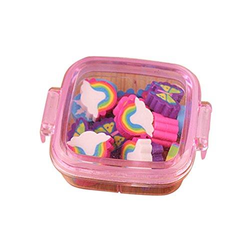 20 gomas de borrar con diseño de mariposas y arcoíris, para niños, color al azar
