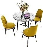 Conjunto de mesa de comedor para cocina o decoraci Negociación de mesa y silla combinación moderna área de descanso departamento de ventas balcón restaurante área de recepción mármol mesa redonda mesa