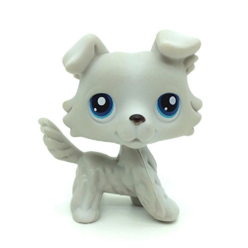 xinxin Littlest Pet Shop Figure Rare LPS #363 Grey Gray White Collie Dog Puppy