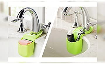 House of Quirk Silicone Kitchen Sink Hanging Bag (22 cm x 20 cm x 6 cm, Set of 3, Clear)