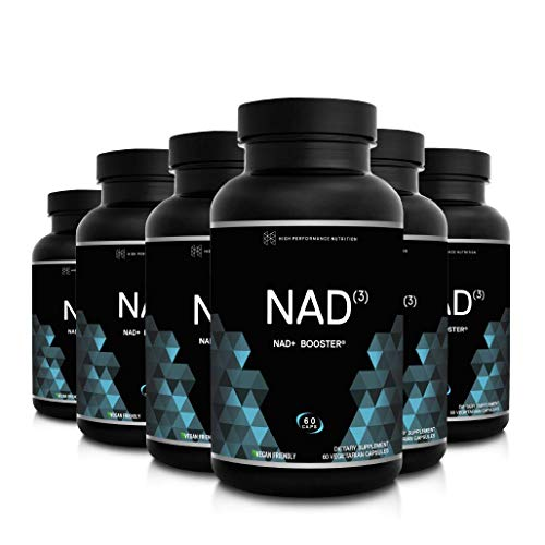 HPN NAD+ Booster – Nicotinamide Riboside Alternative (NAD3) for Men & Women | Anti Aging NRF2 Activator, Superior to NADH – Natural Energy Supplement for Longevity & Cellular Health, 60 Caps, 6-Pack