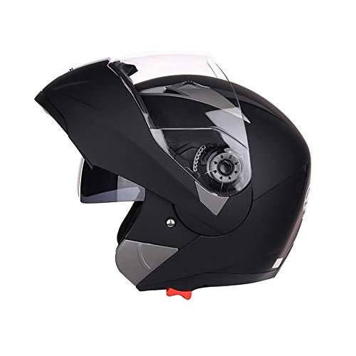 Folconauto Casco de Moto Scooter, Casco de Moto Crash Chopper de Cara