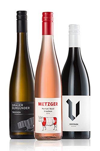 GEILE WEINE Weinpaket JEDEMSCHMECKER (3 x 0,75l) Weißwein, Rosé und Rotwein die jedem schmecken im Probierpaket