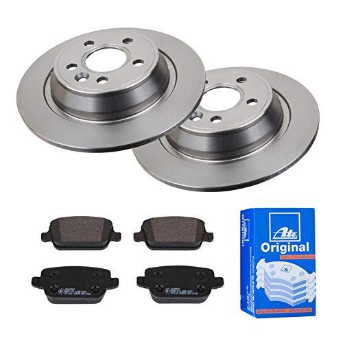 2 Bremsscheiben Voll 302 mm + Bremsbeläge Hinten von ATE (1420-22013) Bremsensatz Bremsanlage Bremsen-Kit,Bremsenset, Bremsscheiben, Bremsbeläge, Bremsen-Set, Beläge, Bremsbelag, Bremsbelagsatz,
