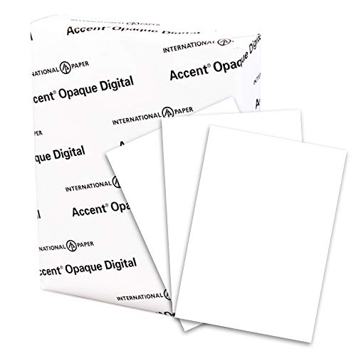 Accent Opaque White Cardstock Paper, 120lb Cover, 325 gsm, 8.5 x 11 card stock, 1 Ream / 150 Sheets - Extremely Heavy Cardstock with Smooth Finish (188179R)