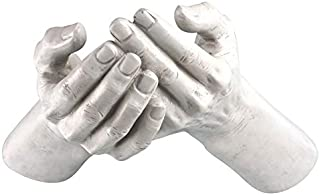 Design Toscano The Offering Hands Wall Sculpture, 11 Inch, Polyresin, Antique Stone
