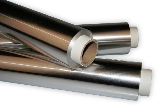 Industriefolie aus Aluminium - Alufolie 29,5cm x 50m, Dicke 36my - 2er Set