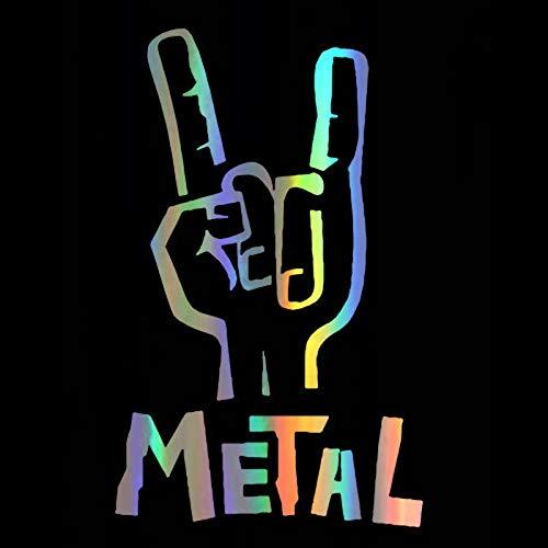 Pegatina de Vinilo 7,6 * 12,1 cm Heavy Metal bajo eléctrico Guitarra...