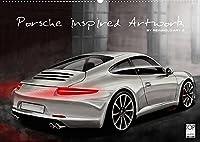 Porsche inspired Artwork by Reinhold Art´s (Wandkalender 2022 DIN A2 quer): In Digital-Painting interpretierte Porsche Fahrzeuge als Kalender (Monatskalender, 14 Seiten )