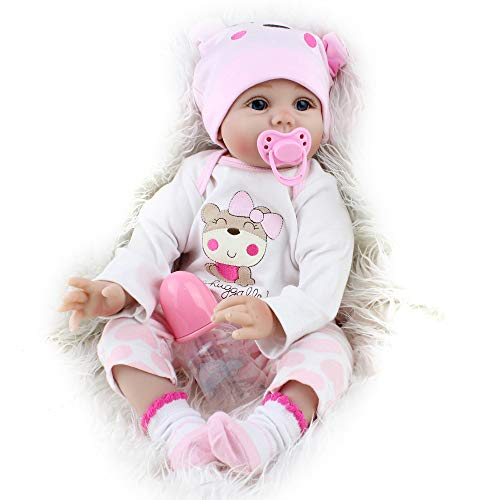 Reborn Baby Dolls Lucy, 22 inch Realistic Girl Doll, Lifelike Soft Vinyl Weighted Gift Set