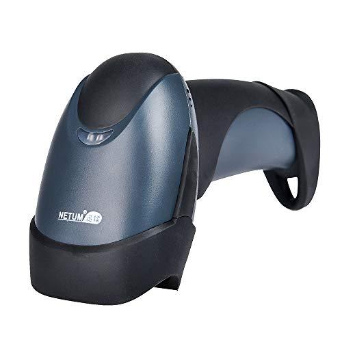 Scanner à main sans fil Bluetooth avec lecteur de codes à barres - Pistolet de numérisation sans fil et rechargeable 1D et 2D pour la gestion des stocks - Lecteur de code à barres/QR USB