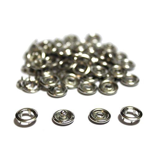 Prym 20 Stück Jersey-Druckknöpfe 8 mm ohne Werkzeug Silber