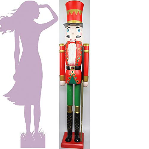 JSBL CDL 5feet/150cm/5ft/60inch Tall Life-Size Large/Giant Christmas Wooden Nutcracker King & Soldier Ornament/Doll/Figures Events/ShopWindow/Wedding Party/Home & Commercial Decoration