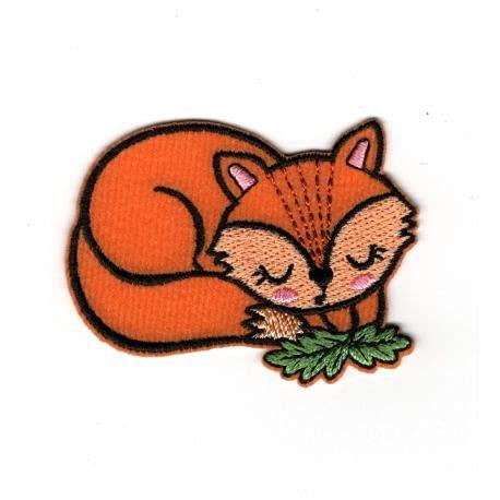 FILOUFACE - Parche termoadhesivo con diseño de zorro dormido, 4,50 x 5,50 cm
