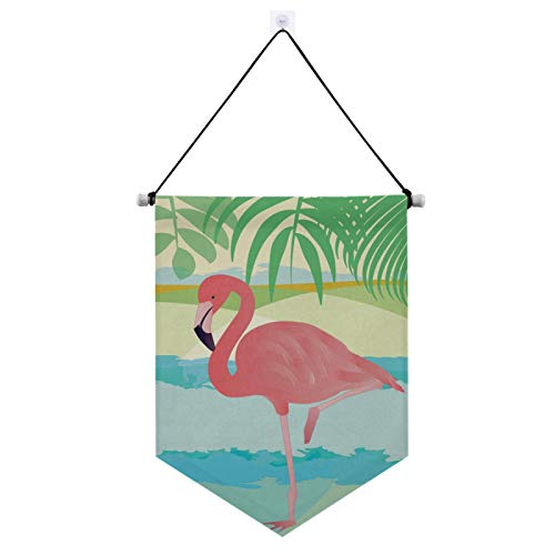 Aflyko Flamingo Sea Yard Door Wall Hanging Welcome Signs Decorations for Home 13' × 17.7'