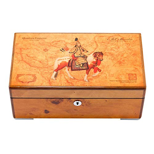 LXYZ Schmuckkästchen,Schmuckschatulle, Klavierlack aus massivem Holz Uhrenbox Vier Satz mechanische Uhr Sammlung Aufbewahrungsbox Schmuckschatulle