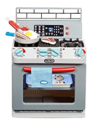 INTERACTIVE TOY OVEN - This interactive toy oven is designed so kids can pretend they're cooking & baking as if they're using the real thing for hours of pretend play fun FEATURES - The stovetop lights up, the buttons really work, the oven light turn...