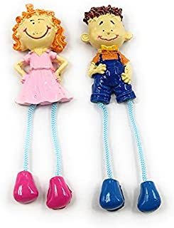 Shiani Handpainted Couple Poly Resin Fridge Magnet (Multicolor)