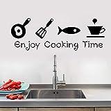 Nuevo diseño creativo DIY pegatinas de pared calcomanías de cocina decoración del hogar restaurante decoración pegatinas de pared A2 18x46 cm
