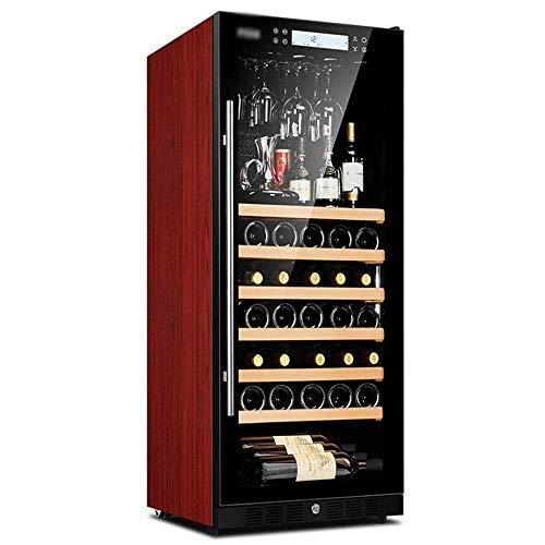 CHENMAO 48 Botellas de Vino más Fresco, Incorporado refrigerado por Aire Independiente/Panel de Control Libre-Frost/Anion purificación Funcionamiento silencioso/Touch con la polea
