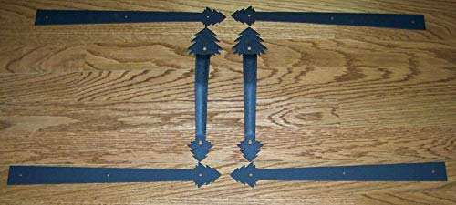 Great Deal! Garage-Door-Decorative-Hardware-Conifer-Set-Powder-Coated-Crinkle-Finish-New