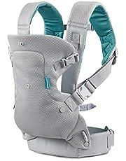 Infantino Flip Light & Airy 4-i-1 bärsele – ergonomisk bärsele med 4 bärpositioner – för spädbarn och småbarn från 3,6–14,5 kg