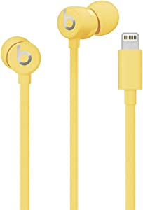 urBeats Wired Earphones with Lightning Connector - Tangle Free Cable, Magnetic Earbuds, Built in Mic and Controls - Yellow