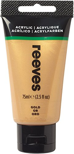 Reeves - Pintura acrílica 75 ml, Oro