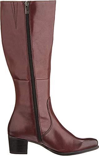 CAPRICE Damen BALINA Hohe Stiefel, Rot (Bordeaux Nappa 540), 40 EU